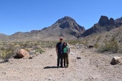 Chisos Mountain range pre-hike.